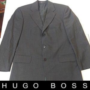 Hugo Boss 38R Charcoal Black Blazer